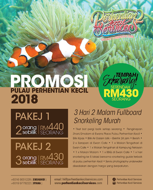 pakej bajet murah pulau perhentian 2018 , Pakej Pulau Perhentian Kecil 2018