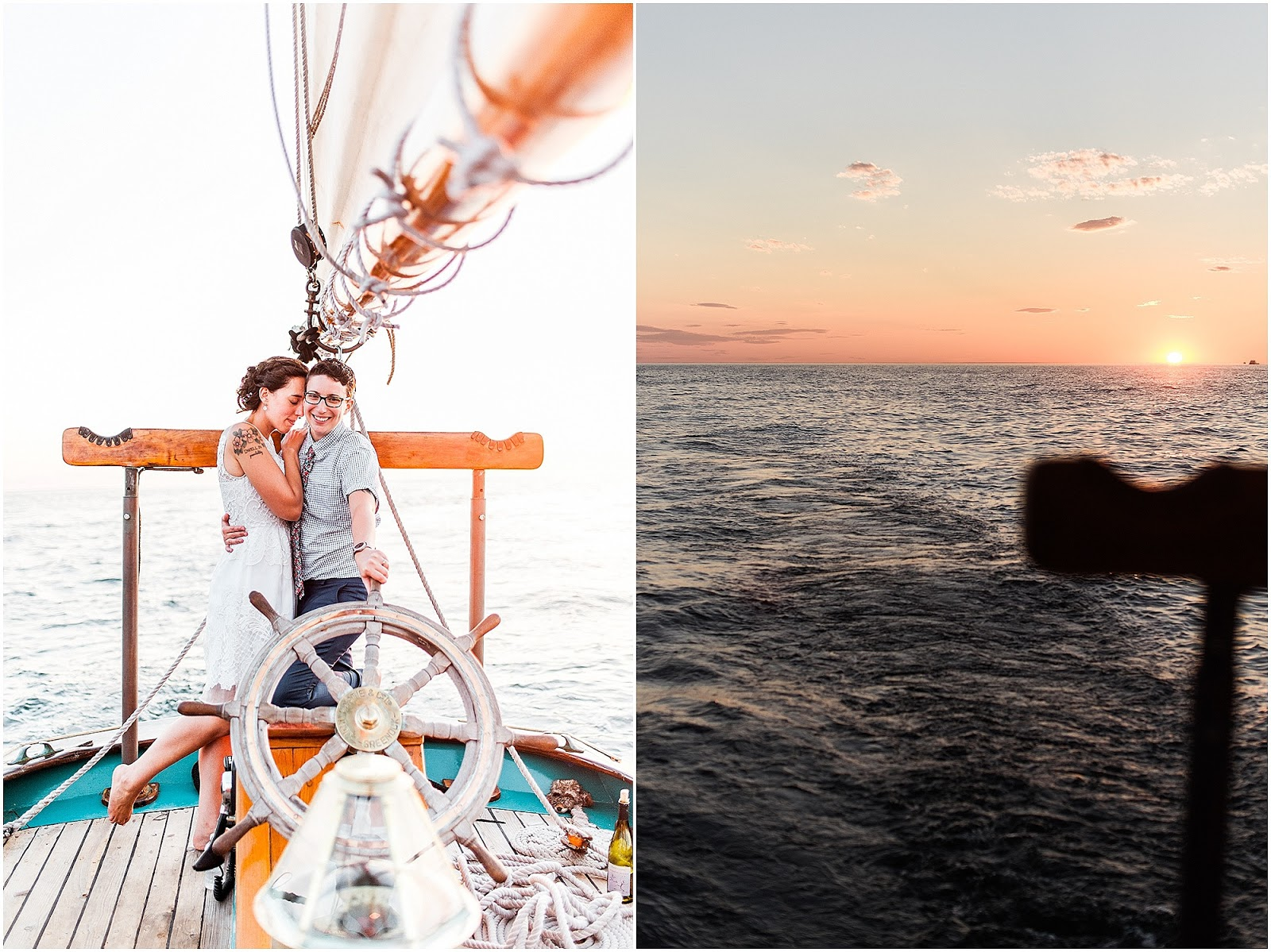 Cape Cod Wedding Provincetown Weddign aboard Hindu Schooner from Eileen Meny Photography