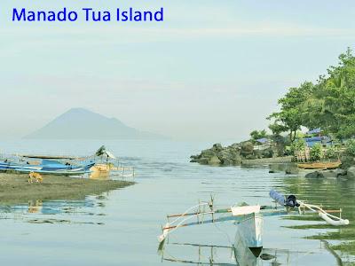 Manado Tua Island in Sulawesi Island