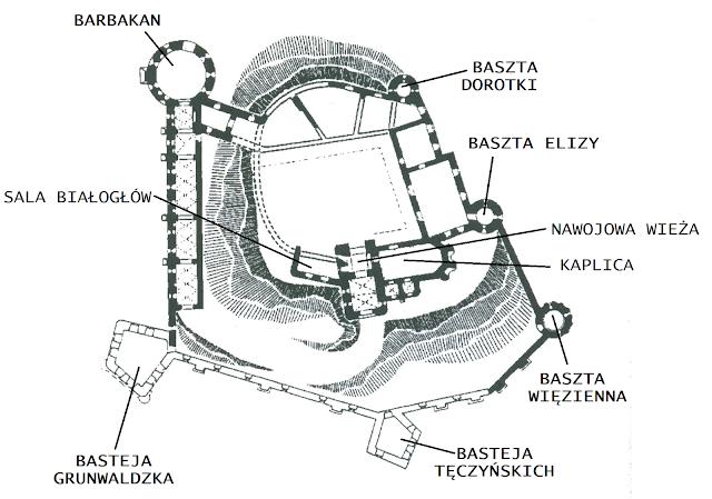 Znalezione obrazy dla zapytania zamek tenczyn baszta dorotki