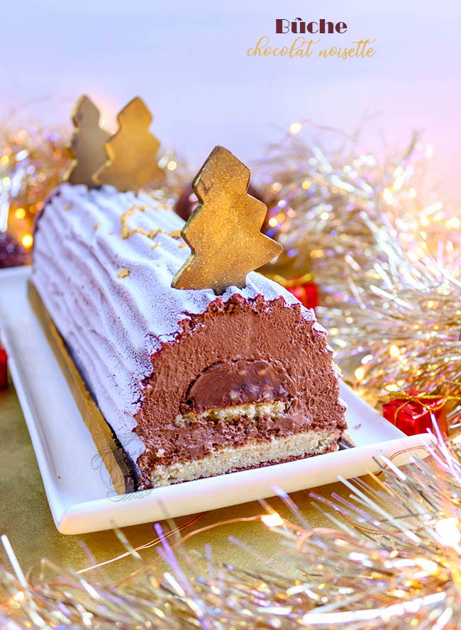 recette buche noel chocolat noisette