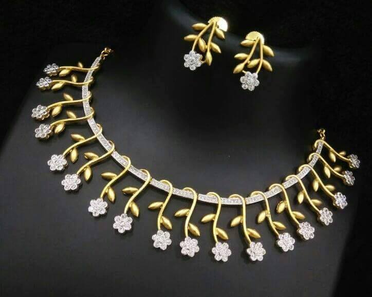 buy set beautiful of picture necklace at gold fjd