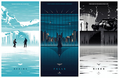 Christopher Nolan's Batman Trilogy Giclee Print Series by Rico Jr. x PopCultArt