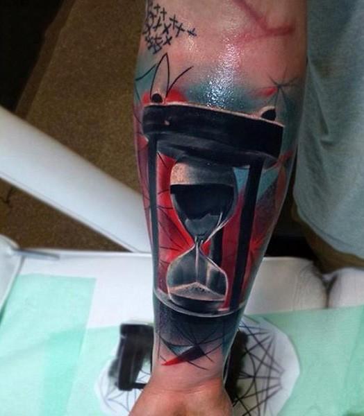 Tatuaje reloj de arena en es