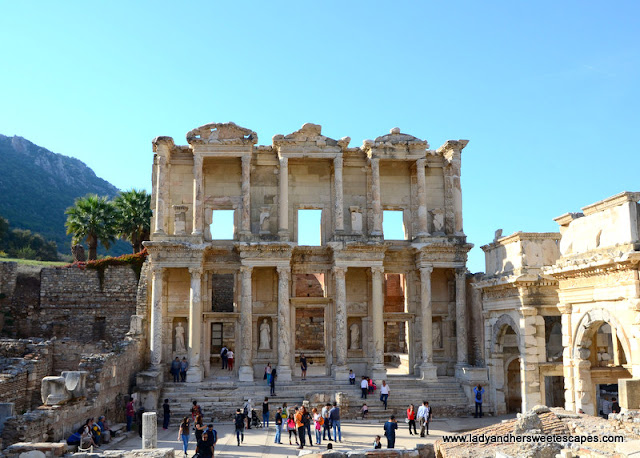 the stunning Celcus Library in Ephesus