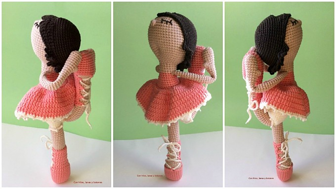 Con hilos, lanas y botones: Rosalía amigurumi (patrón de Pitusas y Petetes)