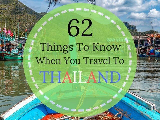 63 Things You Should To Know Before Travel To Thailand