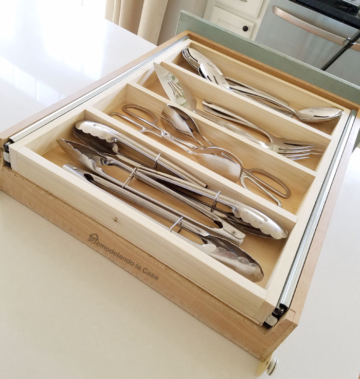 Make the most of your drawers using two drawers in one.