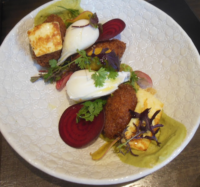 CH James, Fairfield, corn and haloumi fritters
