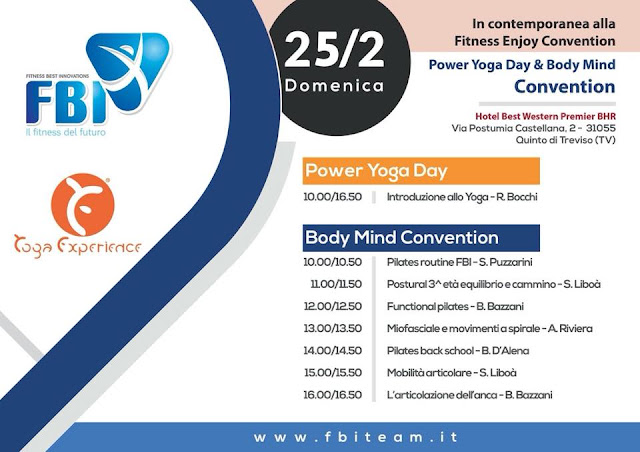 F.B.I. Body&Mind Conference e Convention, 24-25 febbraio 2018 a Treviso  #bodymind #fitnessbestinnovations