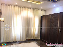 Furnished Master Bedroom Interior - Kerala Home Design And