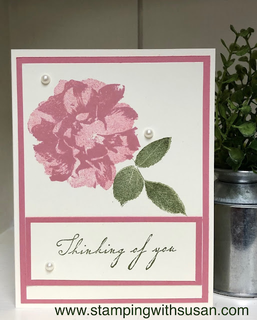 Stampin' Up!, To A Wild Rose, Woven Heirlooms, www.stampingwithsusan.com
