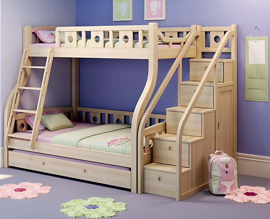 These Are Particularly More Popular For Kids Because It Gives Opportunity  For The Kid Nestled In Deep Slumber In The Upper Bunk To Come Down With  Little Or ...