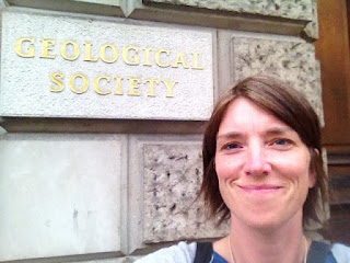 Cath Pennington, BGS, at the Geological Society of London