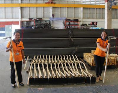 Bi Lingual College Graduate store staff assist in Buriram