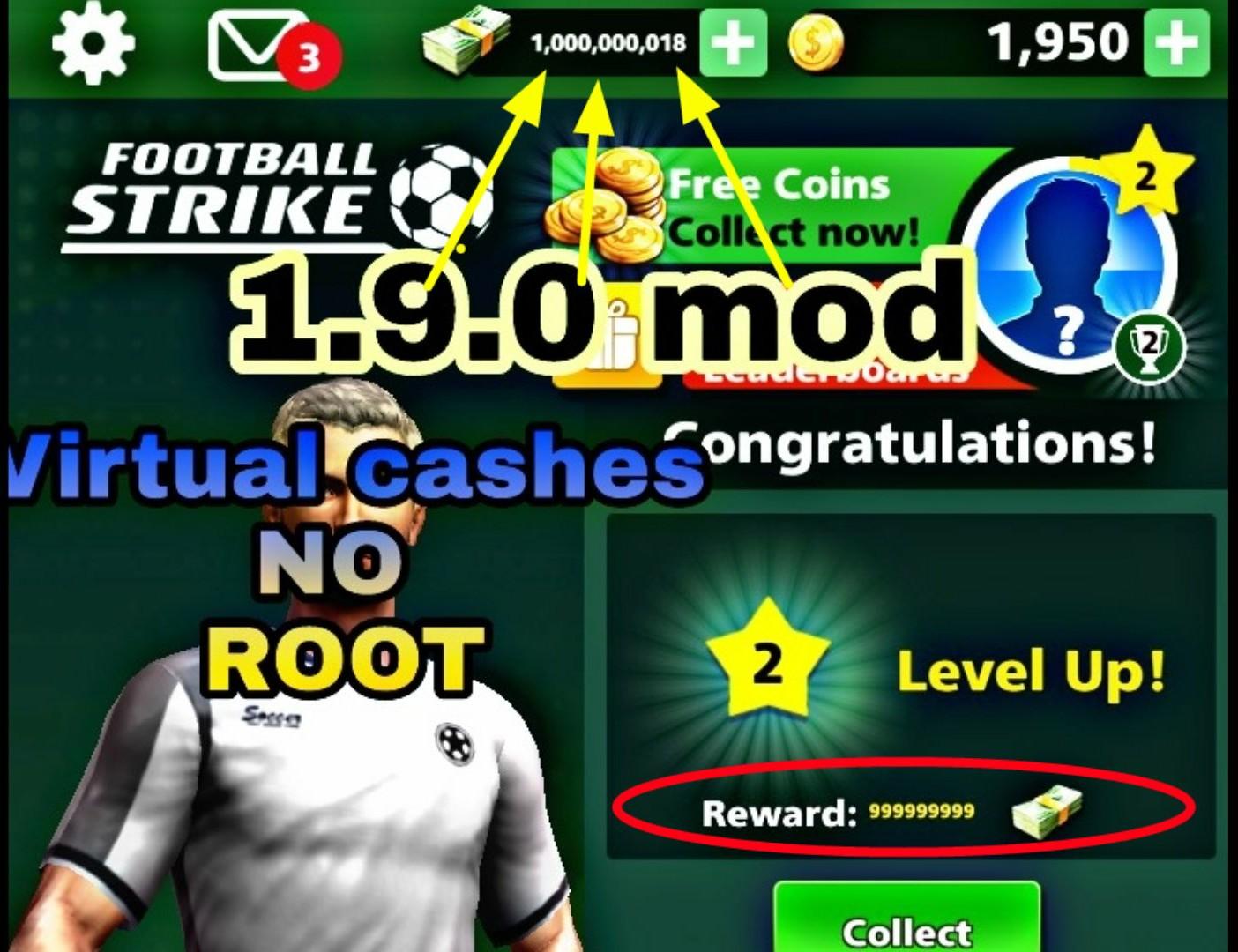 Football Strike 1 9 0 Cash Mod Unlimited Cash Coins