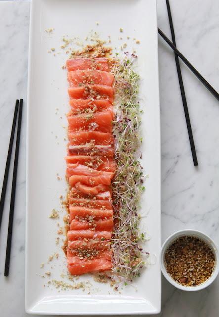 sashimi van zalm - www.desmaakvancecile.com