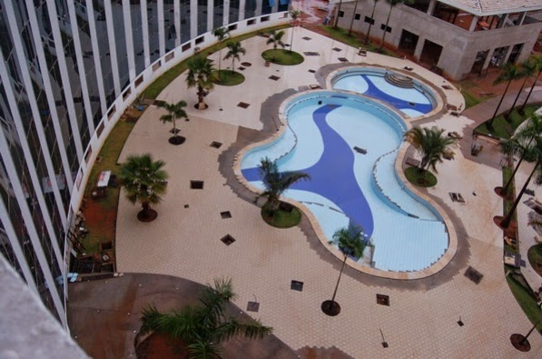 Barretos Thermas Park - Visão das piscinas quase prontas, faltando acabamento final - Fonte site oficial do Barretos Thermas Park
