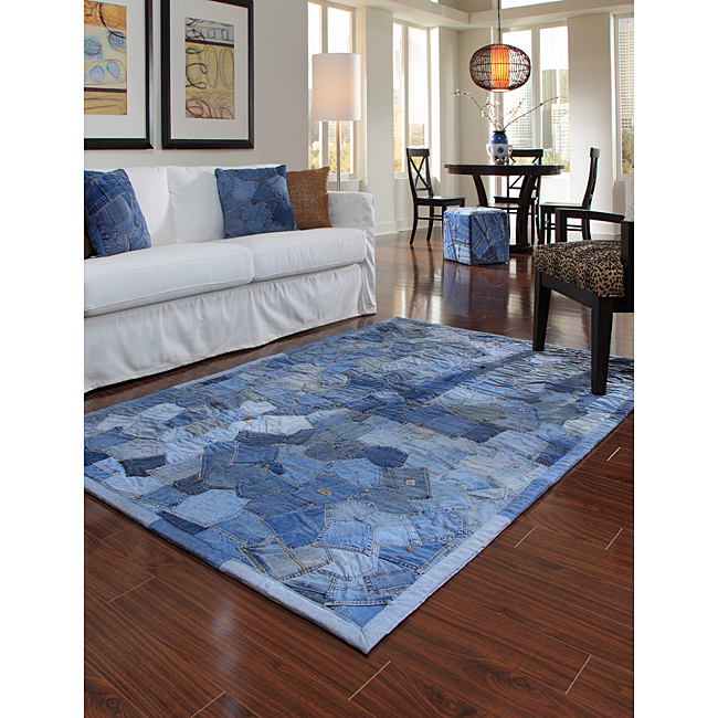 Denim Rug From Old Jeans: Jill's Jewelry Tales
