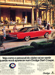 propaganda Dodge Dart Coupé - 1971, brazilian advertising cars in the 70s; os anos 70; história da década de 70; Brazil in the 70s; propaganda carros anos 70; Oswaldo Hernandez;