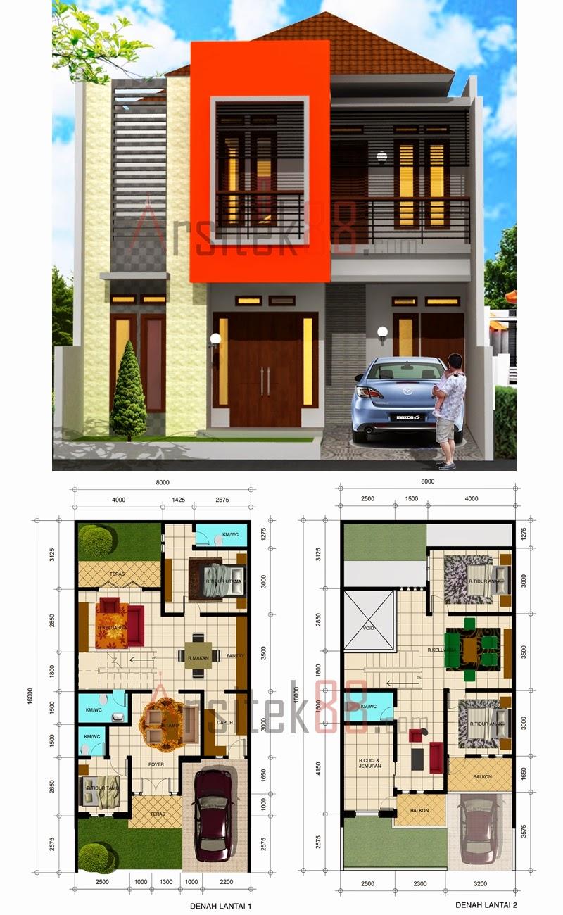 Gambar Rumah Minimalis 2 Lantai Ukuran 6x15 Desain Rumah Minimalis