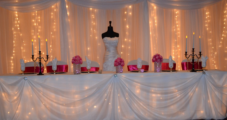 Down The Aisle Head Table Or Sweetheart Table: Sash Wedding Rentals And Custom Decor: Love Drape