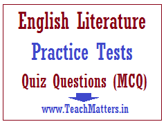 English Literature Practice Test Questions with Answers