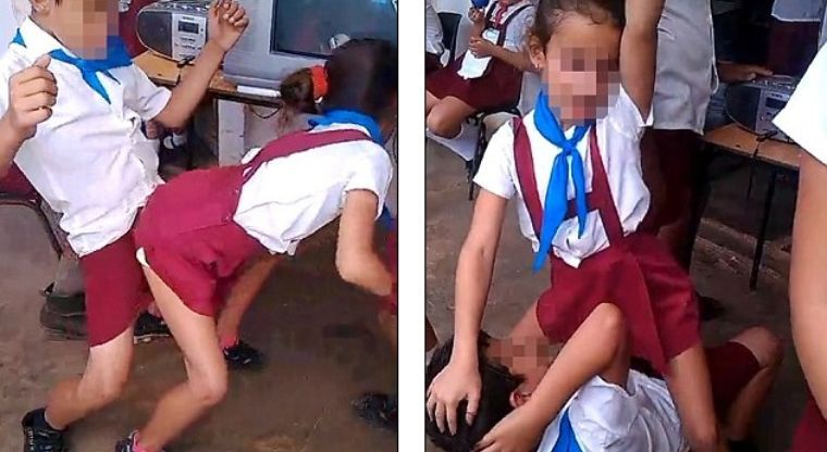 Jovencita bailando y mostrando su ropa interior