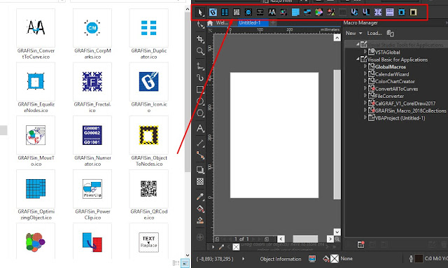 Custom Command Bar di CorelDraw