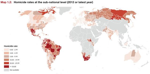 dünya suç haritası