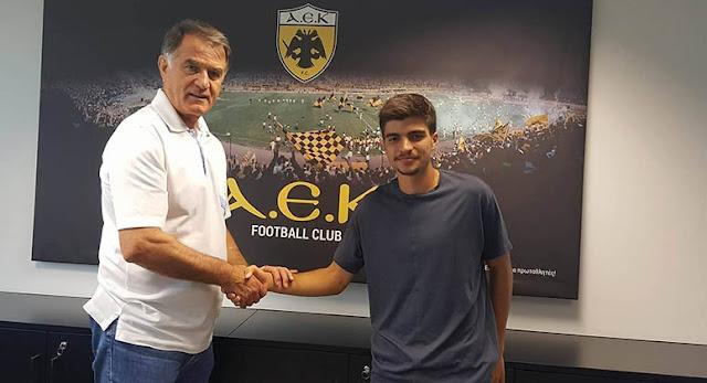 Επαγγελματικό συμβόλαιο με την ΑΕΚ υπέγραψε ο Ηλίας Τσέλιος