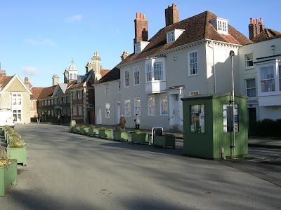 Salisbury, Regency, England, River Avon, street, house