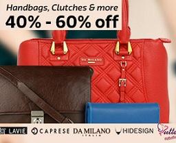 Women's Handbags & Clutches – Min 40% Off on Top Brands starts from Rs.83@ Flipkart