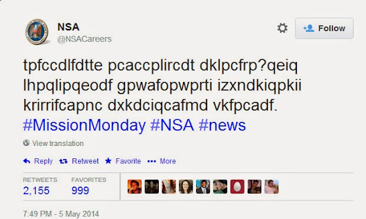 Get job at the NSA by cracking coded tweets « Digital Terror