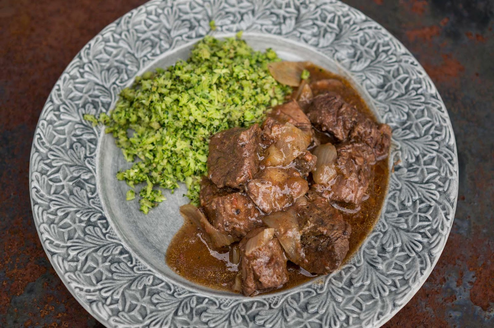 stifado med broccoliris