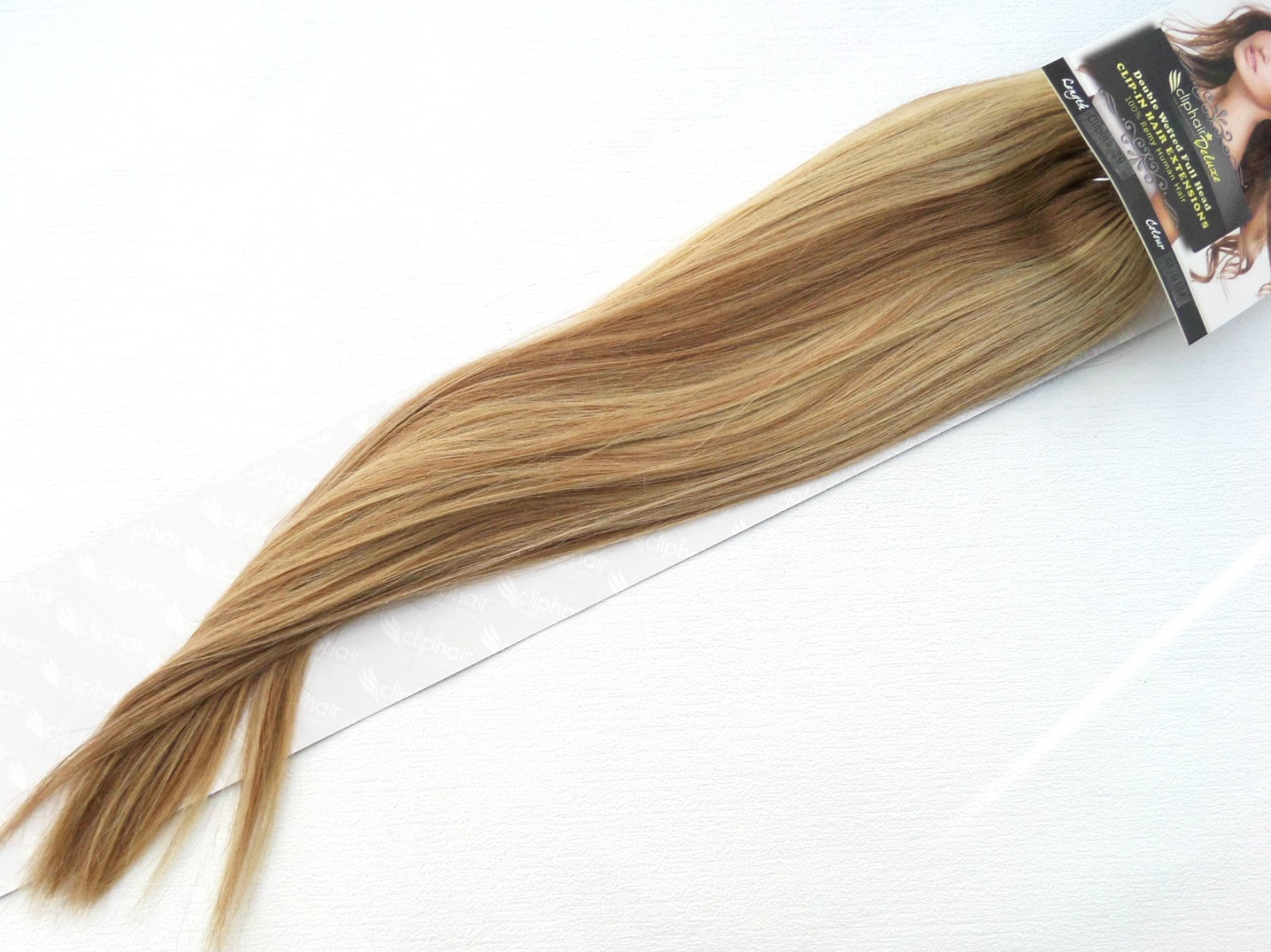 ClipHair Blonde Brown Mix Full head extensions