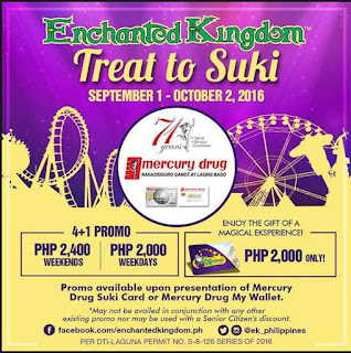 Enchanted Kingdom Treat to Suki Promo, Philippines promotion, Mercury drug promo
