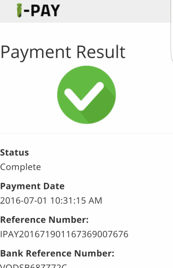 Payment Result and Confirmation - iPAY Method - Hollywoodbets Mobisite