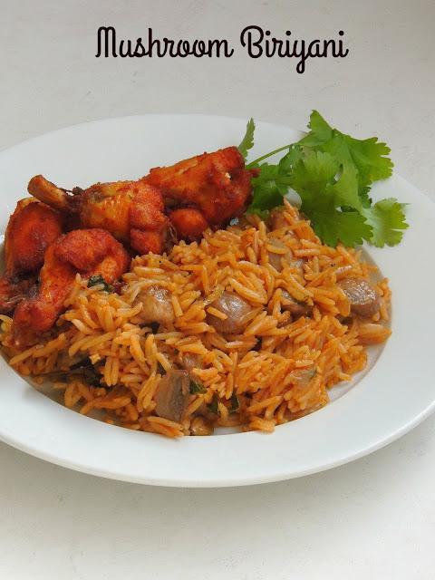 Mushroom Biriyani, Mushroom Biryani