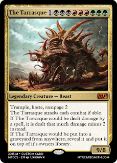 O Tarrasque em carta de magic.