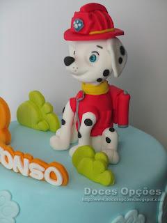 patrulha canina bolo festas parabens aniversário