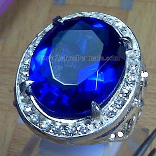 Cincin Batu Permata Blue Obsidian - ZP 968