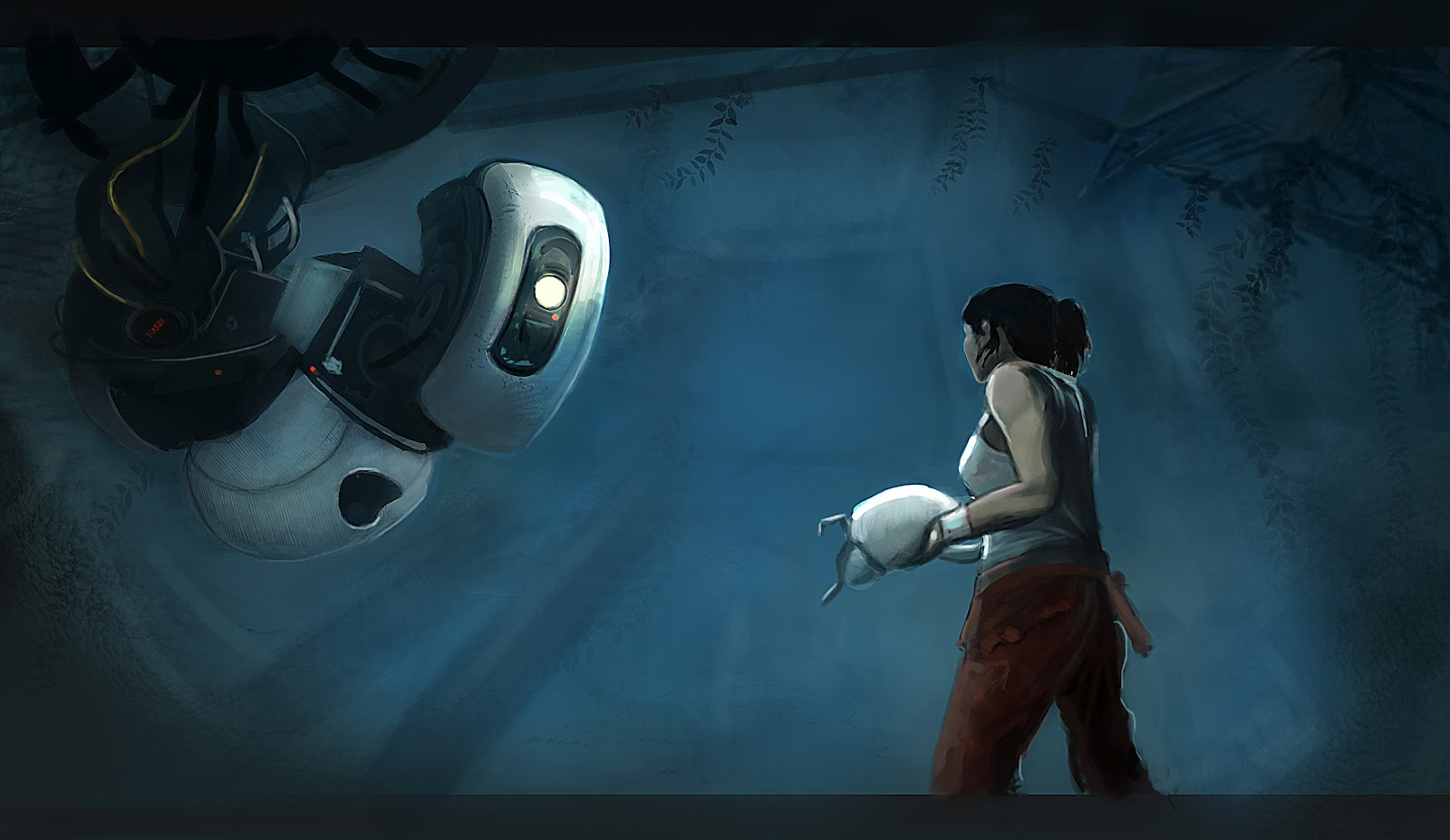 Design Love Fest Fall Wallpaper Kiss My Wonder Woman Glados And Chell Pass The Bechdel