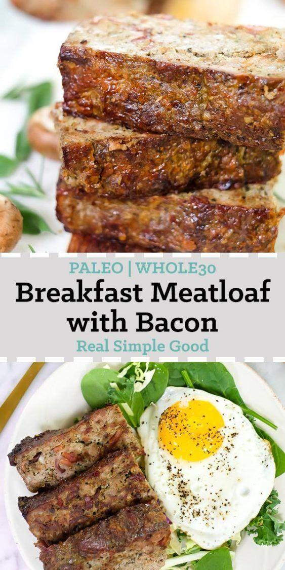 Keto Breakfast Meatloaf (Paleo, Whole30)