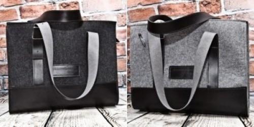 Świetne duże torebki z filcu możemy znaleźć na przykład w galerii Moo  Studio. Są o wiele tańsze a5686792d43