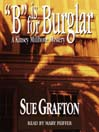 "Cover image, ""B"" is for Burglar, By Sue Grafton. narratorreviews.blogspot.com"