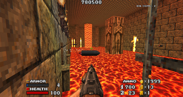 Doom - The Golden Souls 2 - Hardcore platforming over lava and avoiding cannons