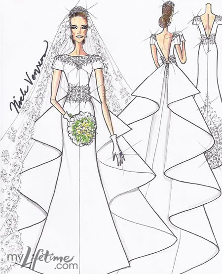 Sketches Of Wedding Gowns: Tattoo Mendem: Project Runway Sketches The Royal Wedding Gown