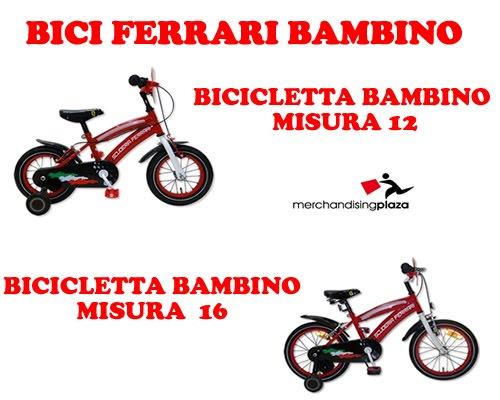 Merchandisingplaza Bici Ferrari Per Bimbo