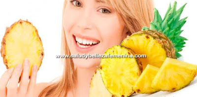Piña, potente diurético y desintoxicante, los beneficios de la Piña son perfectos para ponerte en línea, esta fruta es baja en calorías, normaliza las funciones del aparato digestivo,  perfecta para limpiar el organismo.